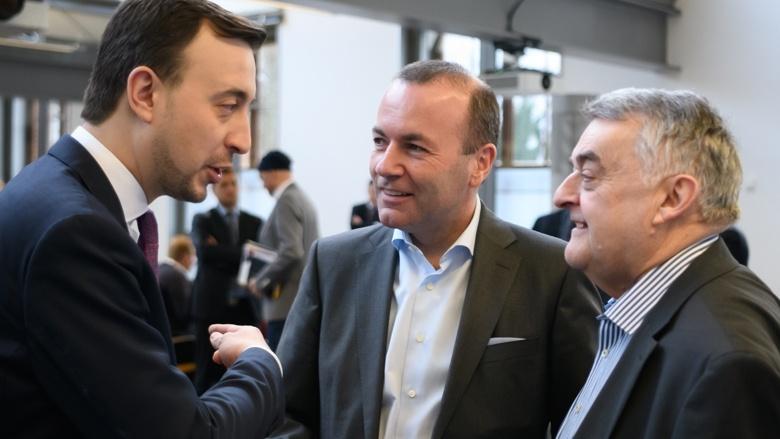 CDU-Generalsekretär Paul Ziemiak, Manfred Weber MdEP und NRW-Innenminister Herbert Reul