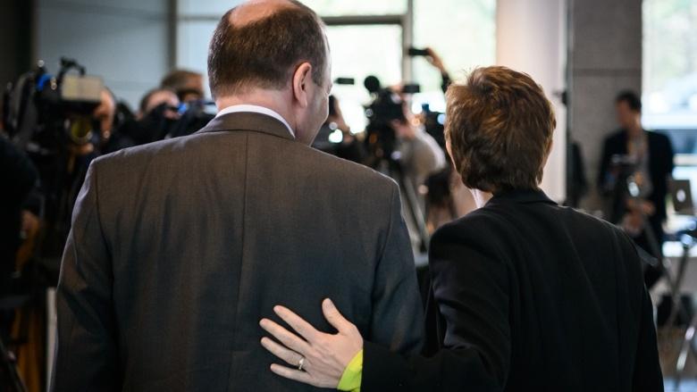 CDU-Vorsitzende Annegret Kramp-Karrenbauer, Manfred Weber MdEP