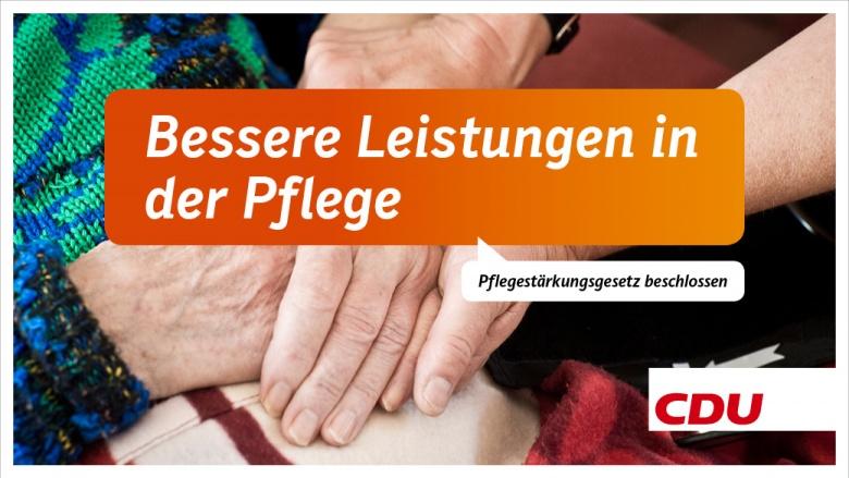 Bessere Leistungen in der Pflege: Pflegestärkungsgesetz beschlossen