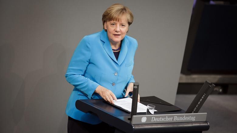 Angela Merkel in der Generaldebatte am 9. September 2015 im Deutschen Bundestag
