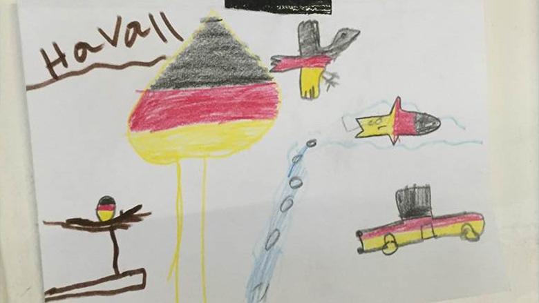 Bild aus einer Flüchtlingsunterkunft in Offenbach