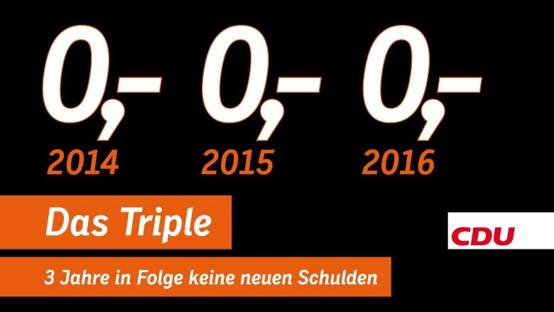 """Schäuble schafft das Triple: """"Schwarze Null"""" auch 2016!"""