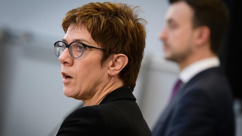 CDU-Vorsitzende Annegret Kramp-Karrenbauer, CDU-Generalsekretär Paul Ziemiak