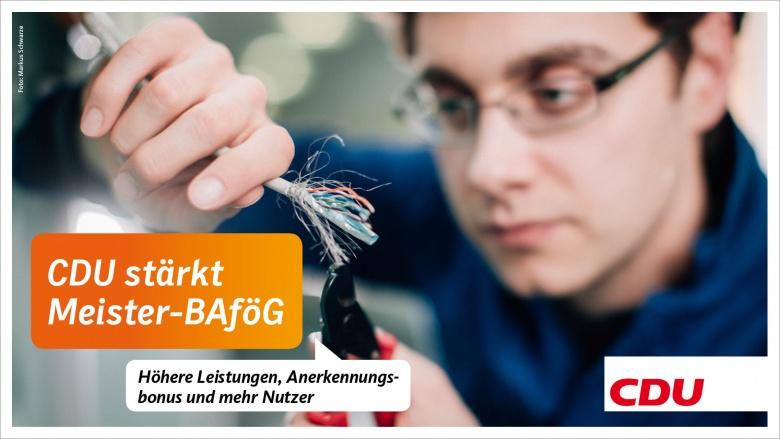 CDU stärkt Meister-BAföG