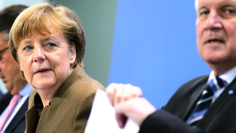 Bundeskanzlerin Angela Merkel bei der Pressekonferenz nach dem Koalitionsgipfel