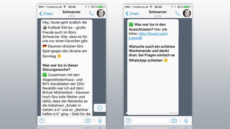 WhatsApp-News von Christina Schwarzer