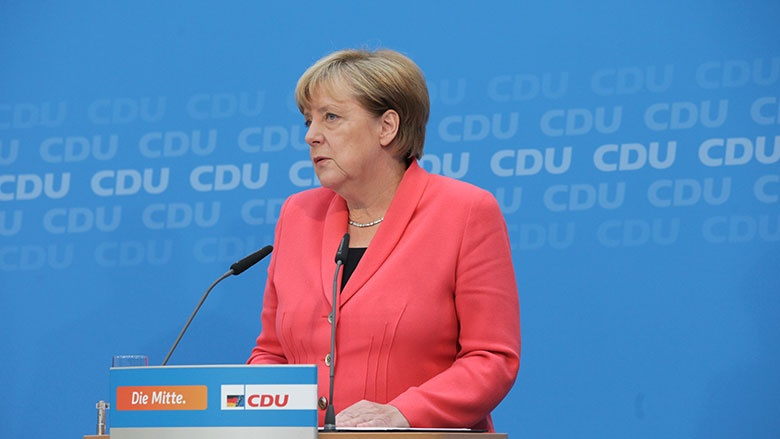 Angela Merkel im Konrad-Adenauer-Haus