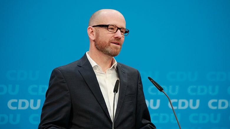 Peter Tauber bei der Pressekonferenz im Konrad-Adenauer-Haus