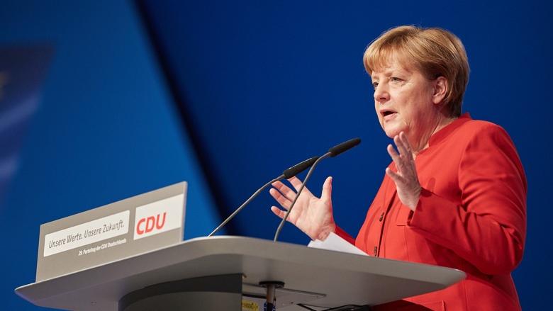 Angela Merkel auf dem Essener Parteitag der CDU