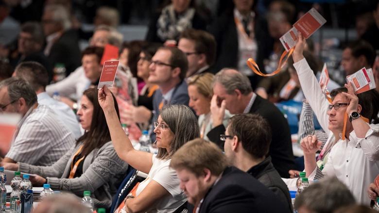 Stimmabgabe im Plenum