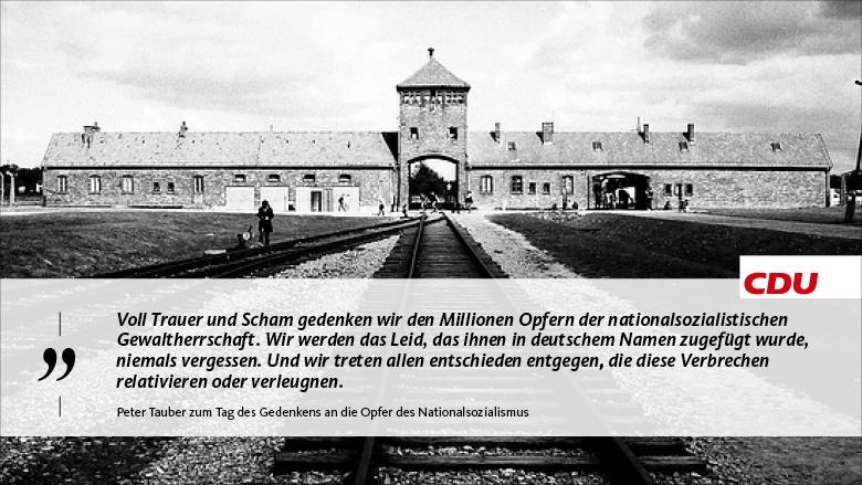 Zitat Peter Tauber zum Holocaust-Gedenktag
