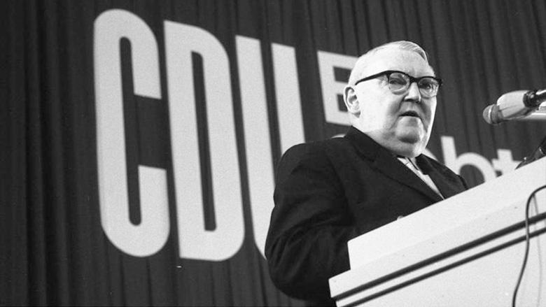 Bundeskanzler Ludwig Erhard auf dem 13. Bundesparteitag der CDU Deutschlands in Düsseldorf – 1965