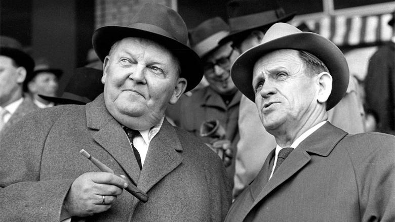 Ludwig Erhard und Fußball-Legende Sepp Herberger