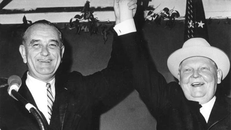 Ludwig Erhard und US-Präsident Lyndon B. Johnson im Dezember 1963 / CC-BY-SA 3.0