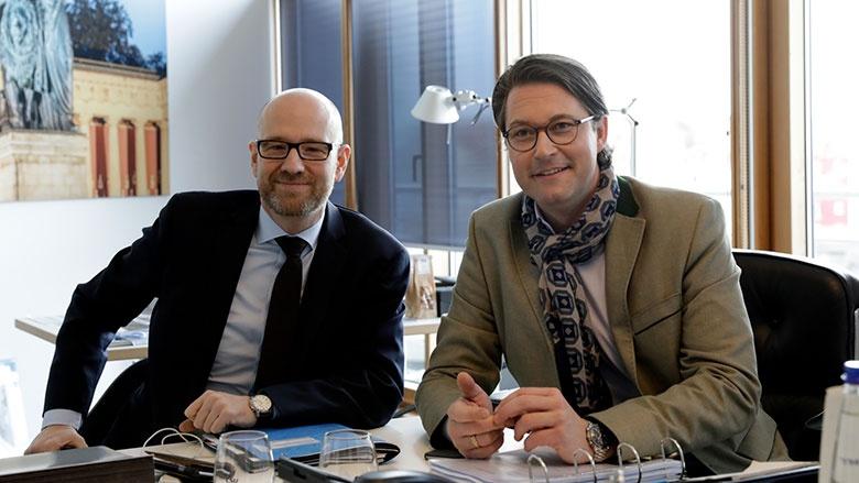 Generalsekretäre von CDU und CSU, Peter Tauber und Andreas Scheuer