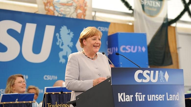 Angela Merkel in Trudering