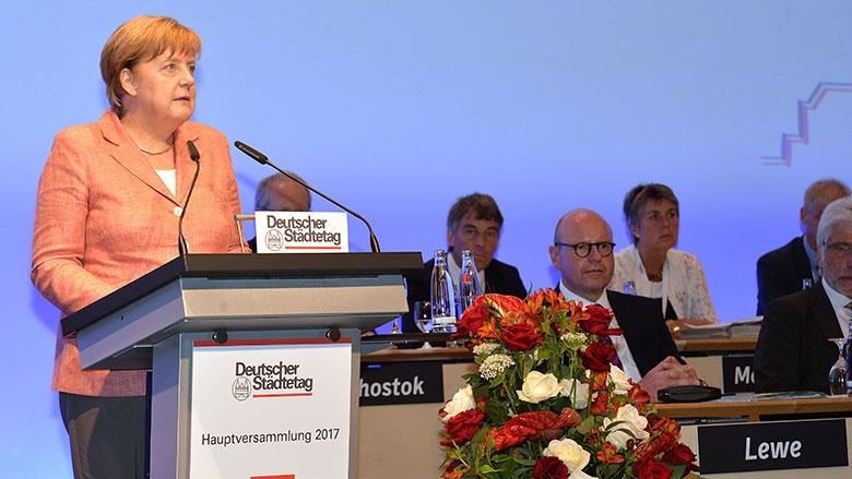 Angela Merkel beim Deutschen Städtetag