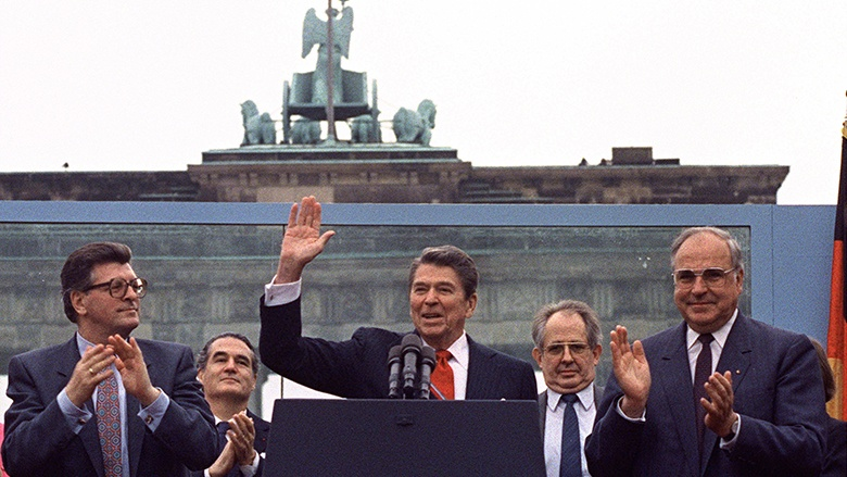 Ronald Reagan: Mr. Gorbachev, tear down this Wall!