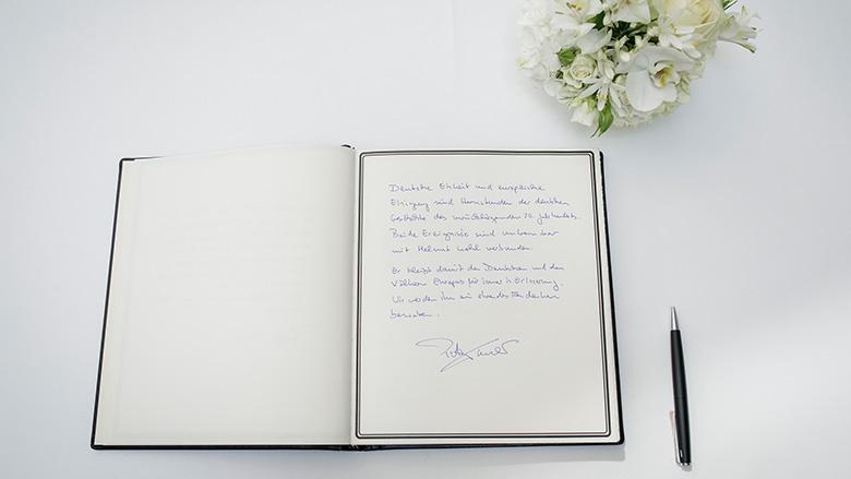 Peter Taubers Worte im Kondolenzbuch für Helmut Kohl