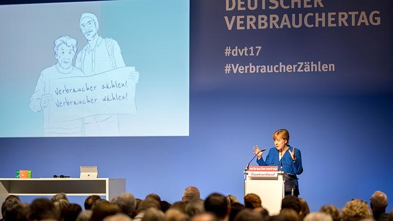 Angela Merkel beim vzbv
