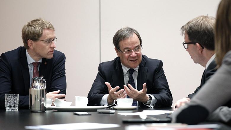 Daniel Günther und Armin Laschet, die neuen Ministerpräsidenten der CDU
