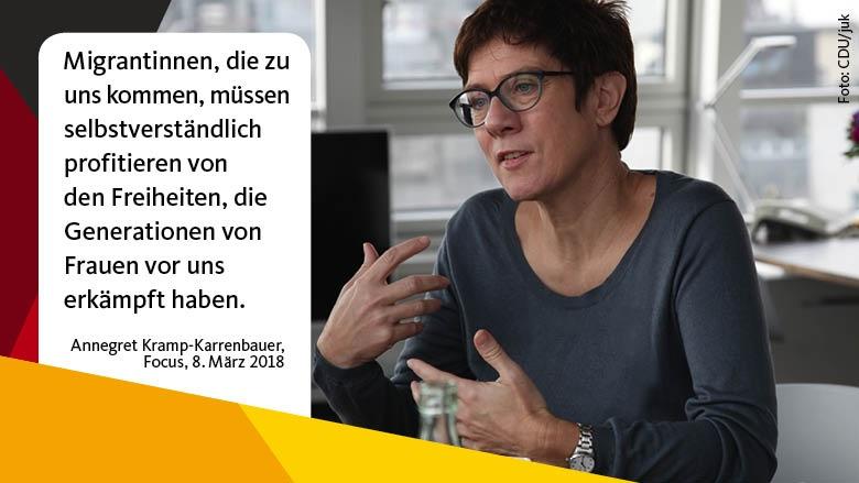 Kramp-Karrenbauer: Frauen wollen sich in der CDU wiederfinden
