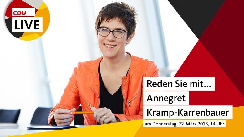 Reden Sie mit Annegret Kramp-Karrenbauer