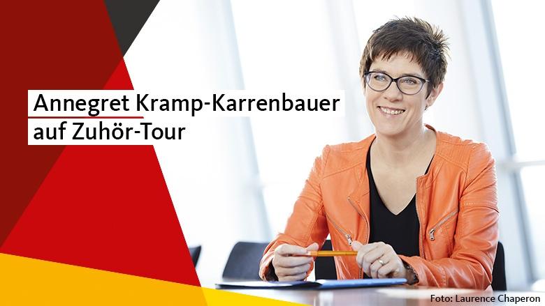 Annegret Kramp-Karernbauer auf Zuhör-Tour