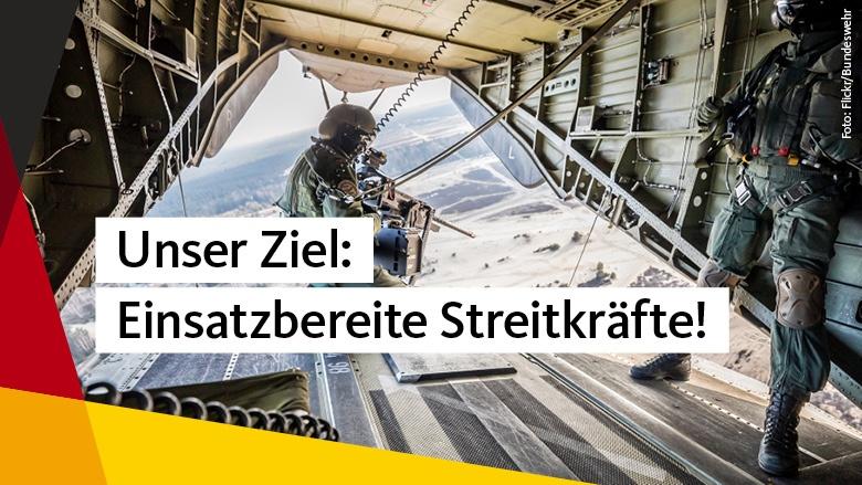 Bundeswehr muss wettbewerbsfähig, modern und attraktiv sein