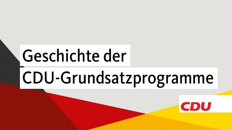 Die Grundsatzprogramme der CDU