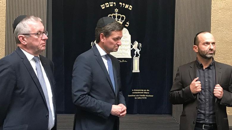 Christian Baldauf in der jüdischen Gemeinde Mainz