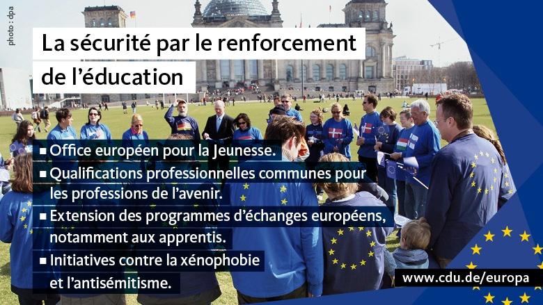 Pour une Europe de la sécurité
