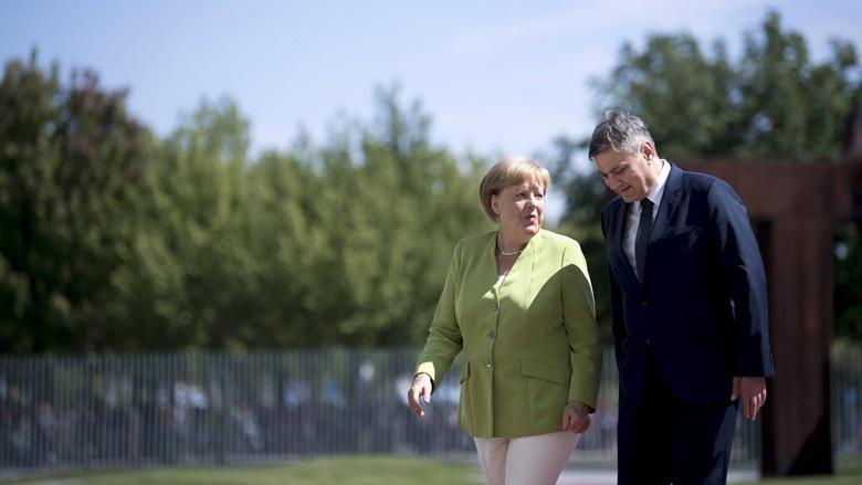 Bundeskanzlerin Angela Merkel und der Vorsitzende des Ministerrates von Bosnien und Herzegowina, Denis Zvizdić