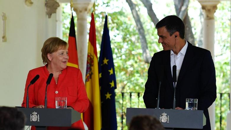 Bundeskanzlerin Angela Merkel und der spanischen Ministerpräsident Pedro Sánchez