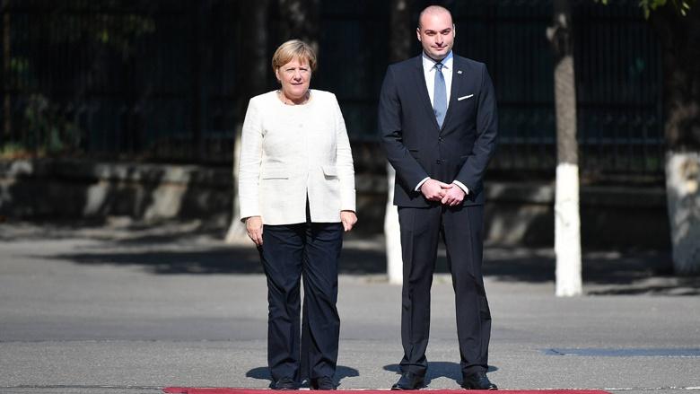 Bundeskanzlerin Angela Merkel und der georgische Premierminister Mamuka Bachtadse