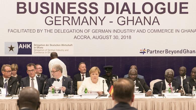 Angela Merkel bei ihrer Afrikareise