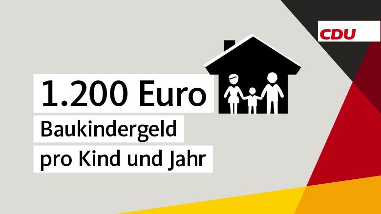 1200 Euro Baukindergeld pro Kind und Jahr