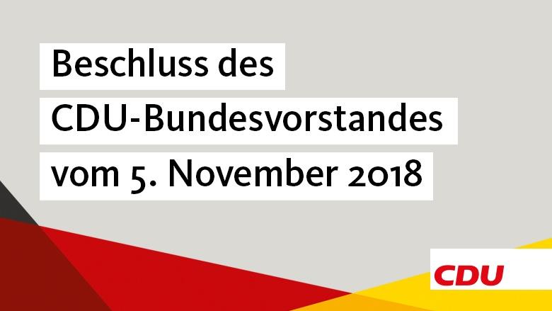 Beschluss des CDU-Bundesvorstandes