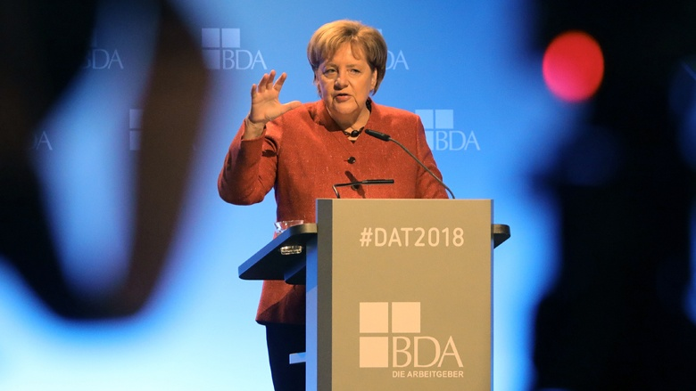 Angela Merkel beim Arbeitgebertag