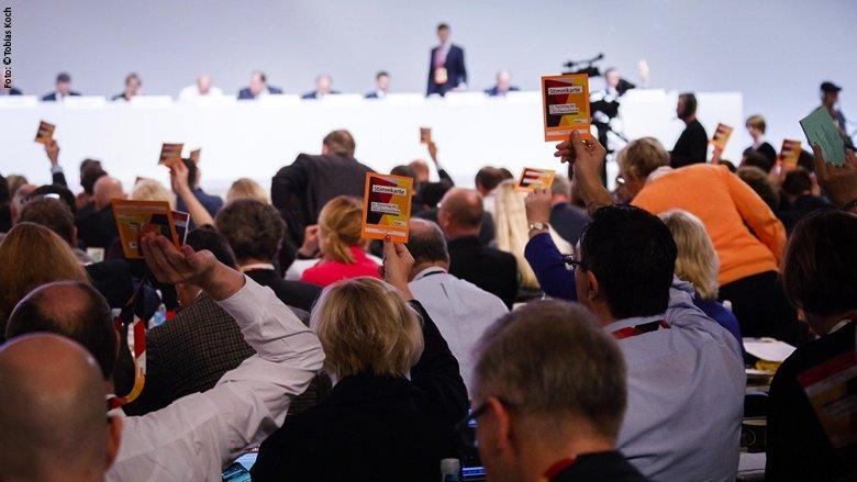 Abstimmung auf dem CDU-Parteitag
