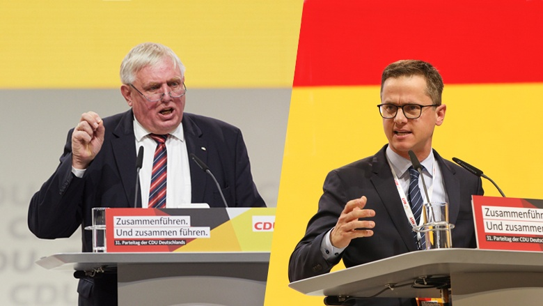 CDA-Chef Karl-Josef Laumann (links) und MIT-Chef Carsten Linnemann (rechts)