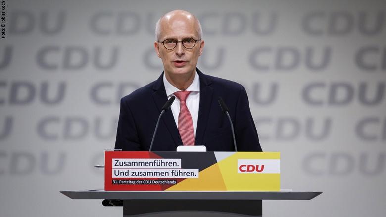 Der Erste Bürgermeister und Präsident des Senats der Freien und Hansestadt Hamburg, Peter Tschentscher