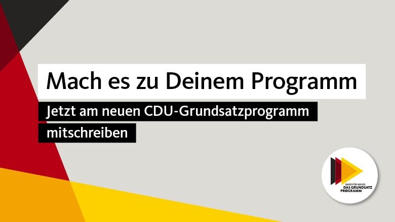 Jetzt am neuen CDU-Grundsatzprogramm mitschreiben