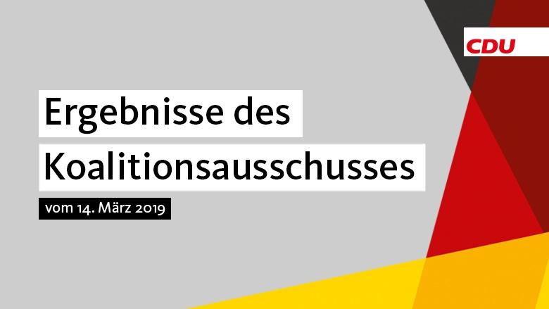 Koalitionsausschuss 14. März 2019