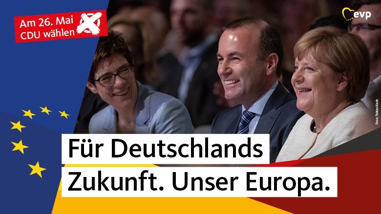 Annegret Kramp-Karrenbauer, Angela Merkel, Manfred Weber