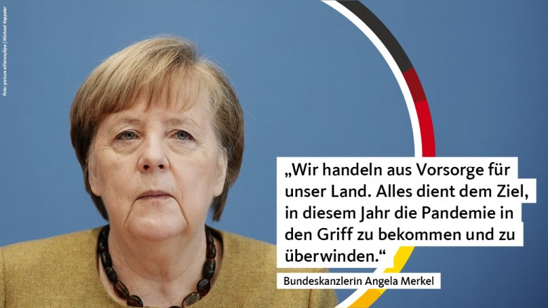 Bundeskanzlerin Angela Merkel während der Pressekonferenz zur aktuellen Corona-Lage aus Berlin