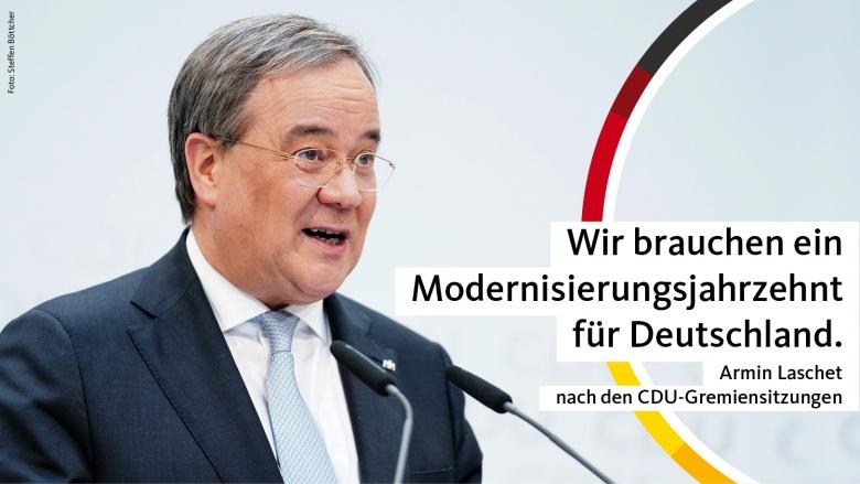 Ein Modernisierungsjahrzehnt für Deutschland
