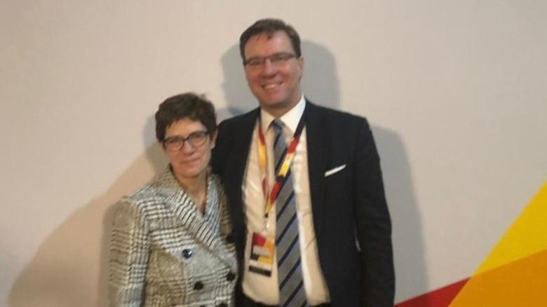 CDU-Vorsitzende Annegret Kramp-Karrenbauer, Nico Lange, stellv. CDU-Bundesgeschäftsführer