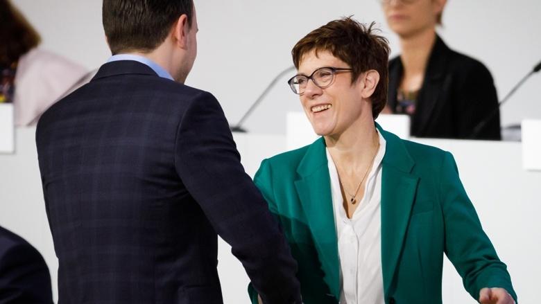 Die CDU-Vorsitzende Annegret Kramp-Karrenbauer und ihr neuer CDU-General Paul Ziemiak