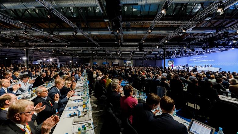 Blick in das Plenum des 30. Parteitags